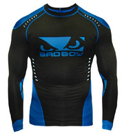 Bad Boy Sphere Compression Top L/S - Black/Blue