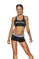 Bad Girl Sports Bra- Black/Blue
