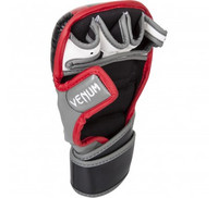 Venum Elite Sparring MMA Gloves - Black/Red/Grey