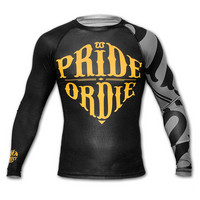 Rashguard PRiDEorDiE RECKLESS Black & Grey