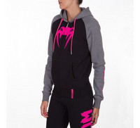 Venum Infinity Hoody with zip - Black/Grey - For Women