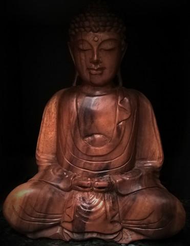 Buddha 31 cm, puinen