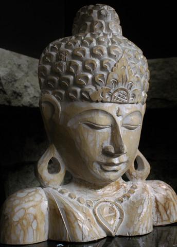 Buddha, puinen 40 cm
