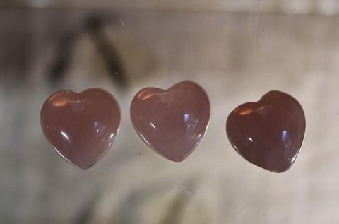 Sydän ruusukvartsi 15 mm