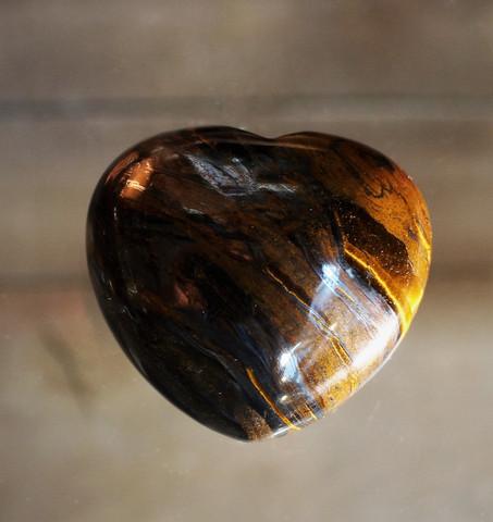 Tiikerinsilmä, sydän 40 mm