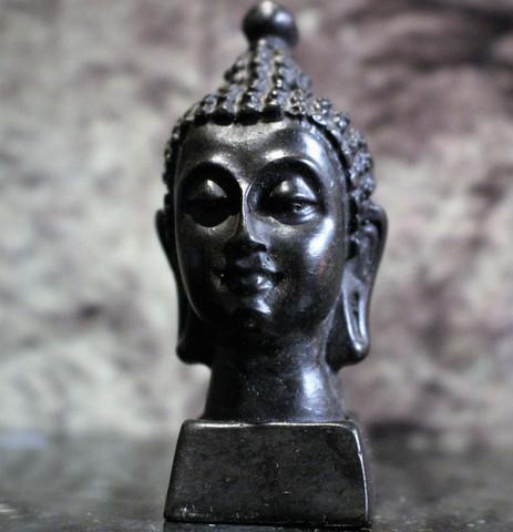 Buddhan pää, musta 70 mm