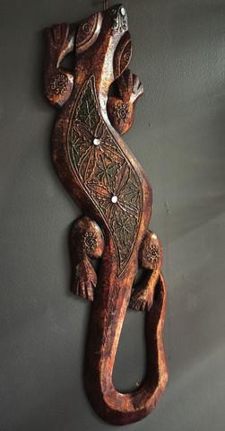 Gekko, puinen 50 cm