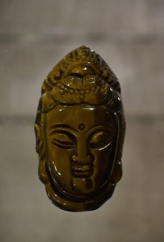 Tiikerinsilmä Buddha riipus, koko n. 40 mm