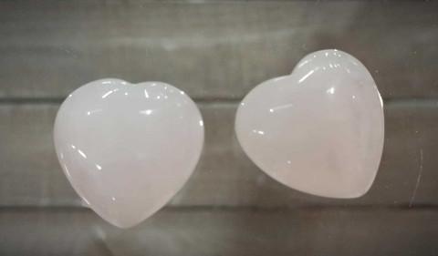 Ruusukvartsi sydän, 25 mm