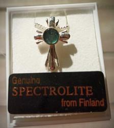 Spektroliitti riipus, 16 mm