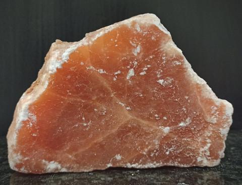 Oranssi seleniitti, koko 35/160/110 mm