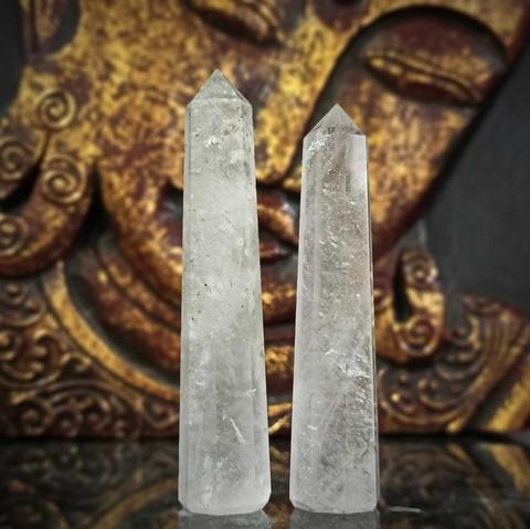 Vuorikristalli, obeliski 75-105 mm