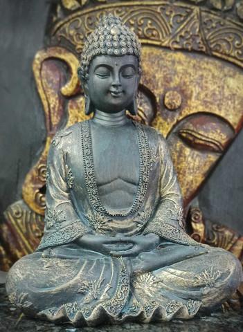 Buddhapatsas, 22 cm tumma/kulta