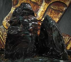 Obsidiaani, raakakivi 70-130 mm