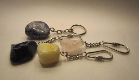 Avainperä, rumpuhiottu kivi