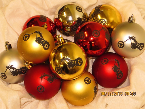 Christmas tree ball Motorbike Chopper