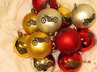 Christmas tree ball Motorcycle old