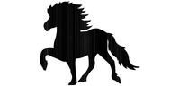 Gate sign Icelandic horse