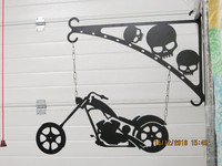 Gate sign and rack Motorbike Chopper