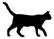 Clock cat walks short-haired