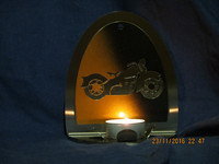 Candle holder Motorcycle old