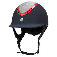 EQ3 Pardus ratsastuskypärä mikromokka sini-puna-timantti, säädettävä koko