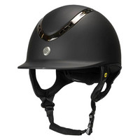 EQ3 Pardus ratsastuskypärä sileä musta, säädettävä koko