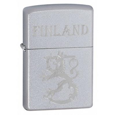 Zippo 205SLF suomi leijona finland satiini kromi