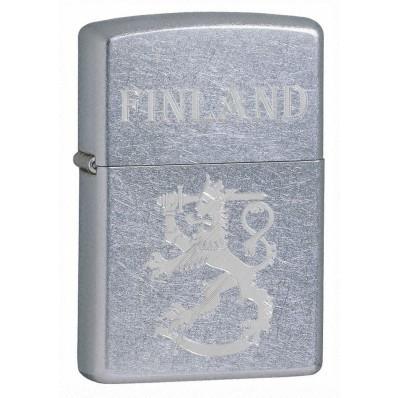 Zippo 207SLF - suomi leijona finland naarmuutettu kromi