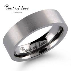 Beat of love titaanisormus 6mm flakka TI-031
