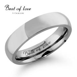Beat of love titaanisormus 5mm TI-063