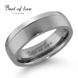 Beat of love titaanisormus 6mm TI-069