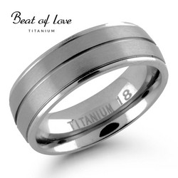 Beat of love titaanisormus 7mm TI-183