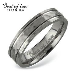 Beat of love titaanisormus 5mm taottu TI-415
