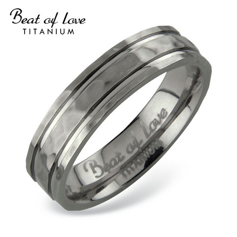 Beat of love titaanisormus 5mm hakattu TI-415