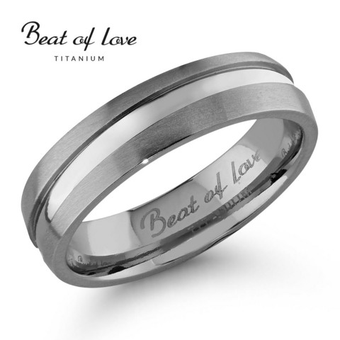 Beat of love titaanisormus 5mm TI-905
