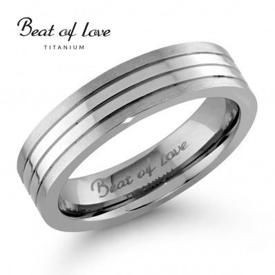 Beat of love titaanisormus 5mm TI-213