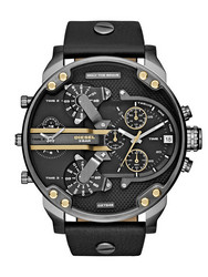 Diesel DZ7348 Mr.Daddy 2.0 Leather Black rannekello | toimituskulut 0€