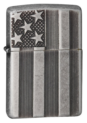 Zippo 28974 armor antique silver plate