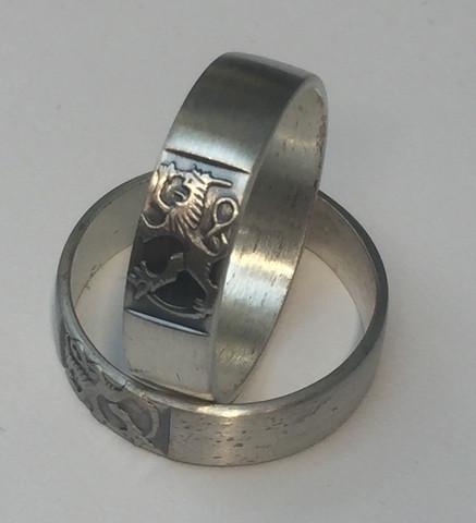 Hopeinen Leijona sormus 5227