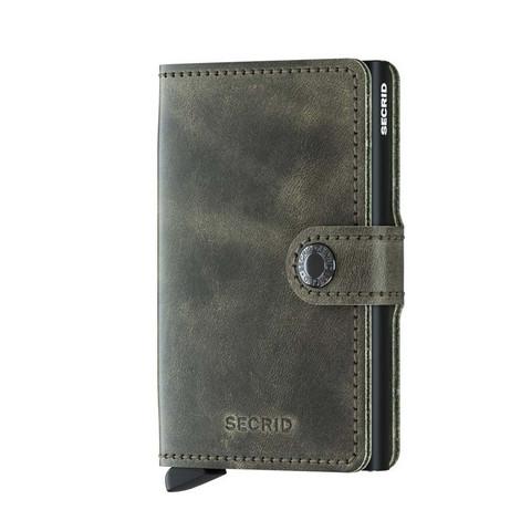 Secrid Miniwallet Vintage Olive Black lompakko