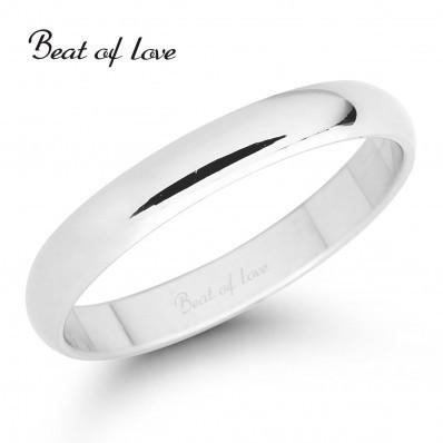 Beat of Love VKP-3 3mm valkokulta sormus
