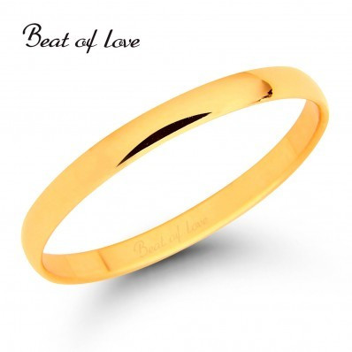 Beat of Love KKP-2 2mm keltakulta sormus