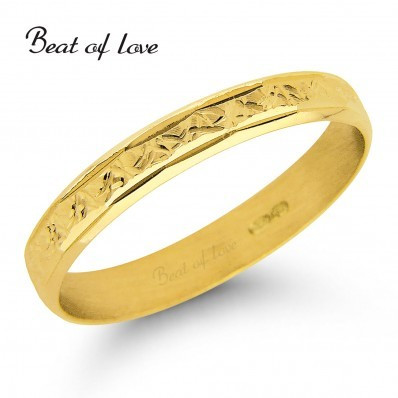 Beat of Love R23-3 3mm keltakulta sormus
