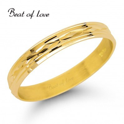 Beat of Love R3-3 3mm keltakulta sormus
