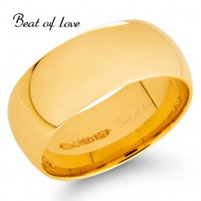 Beat of Love OPP-8 8mm keltakulta sormus