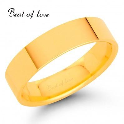 Beat of Love KPF-5 5mm flakka keltakulta sormus