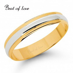 Beat of Love KV151-4 4mm kelta/valkokulta sormus