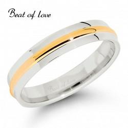 Beat of Love KV256-4 4mm kelta/valkokulta sormus