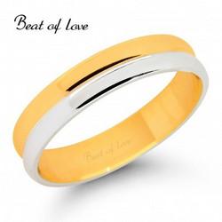 Beat of Love KV213-4 4mm kelta/valkokulta sormus